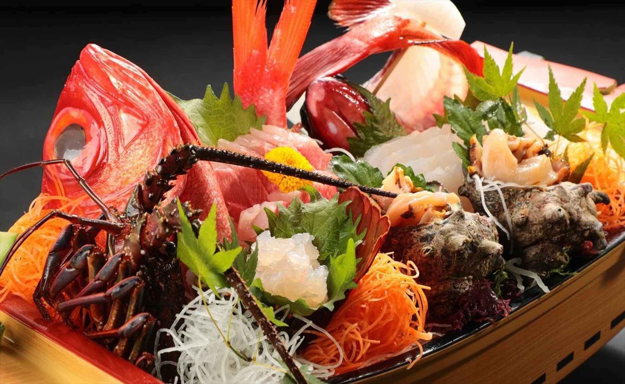 伊豆自慢の海の幸料理