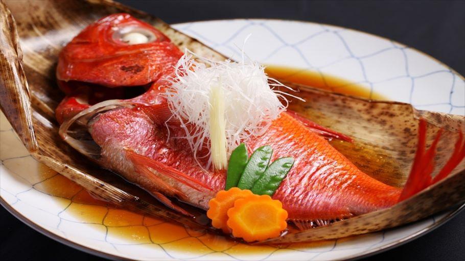 【豪華舟盛】金目・サザエなど海の幸満喫プラン 1泊2食飲み放題(+35%分のクーポン付)